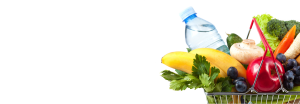 agua mineral en la cesta de la compra