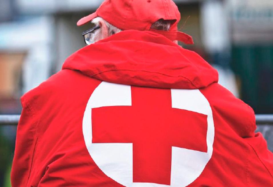 chaqueta cruz roja ayuda banco agua solidario