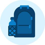 Icono Mochila azul