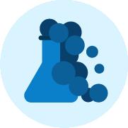 Icono de una probeta azul