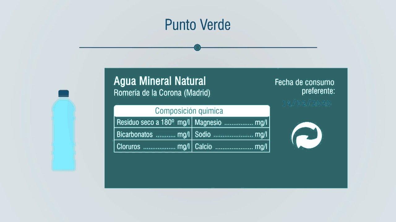 punto verde para agua mineral natural