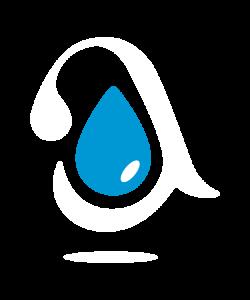 isotipo aneabe con gota azul sobre blanco