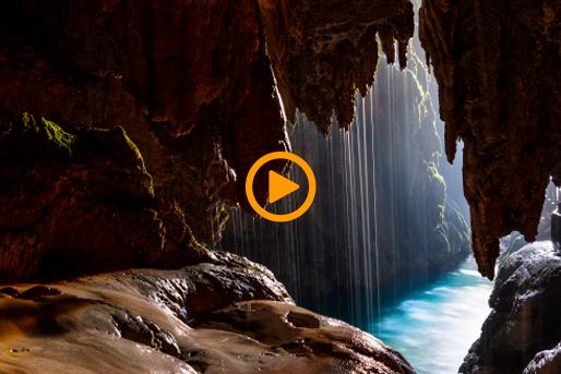 imagen video de cueva subterránea