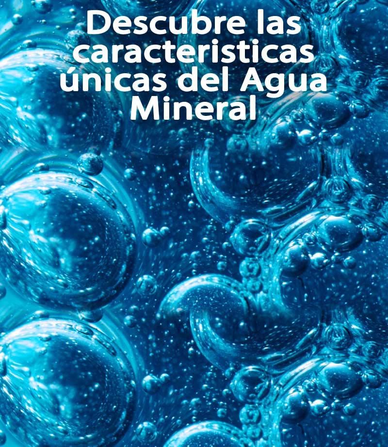 caracteristicas unicas del agua mineral