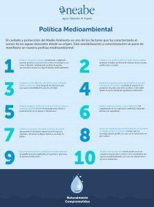 datos sobre política medioambiental del sector de aguas minerales