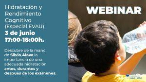 Instituto de Investigación Agua y Salud webinar Hidratación y Rendimiento Cognitivo ANEABE webinar