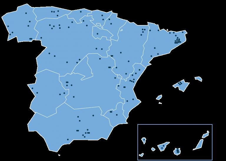 Mapa de España de acuíferos